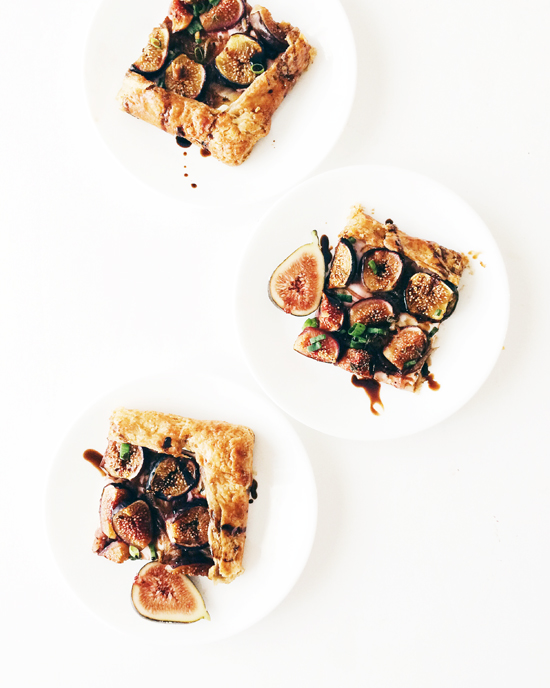 fig galette slices