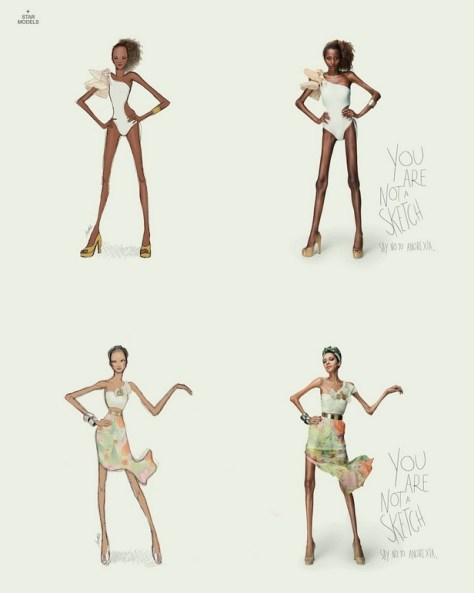 Anti-anorexia ad from Brazilian agency Star Models