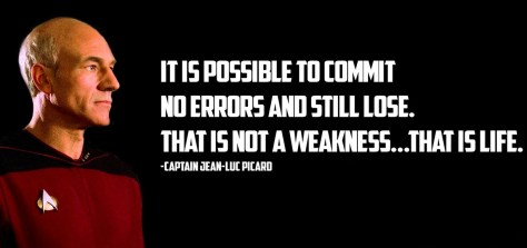 It is possible to commit no errors and still lose ...