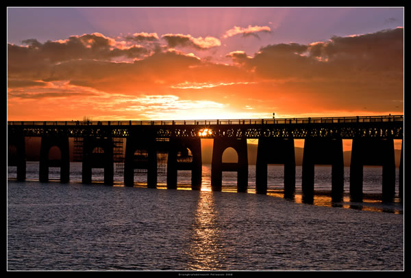 Tay Rail Bridge Winter Sunset