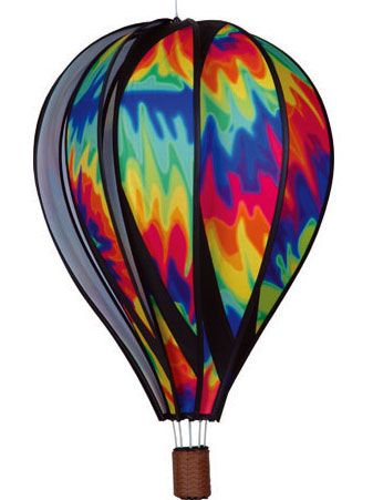 ltiedye22 Large Tie Dye Spinning Hot Air Balloon