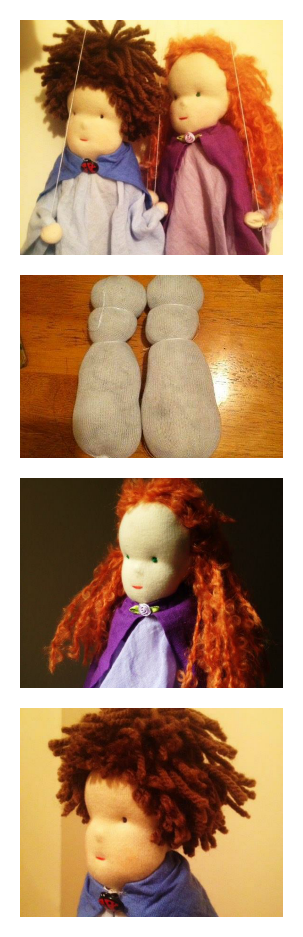 Our little Waldorf inspired marionettes