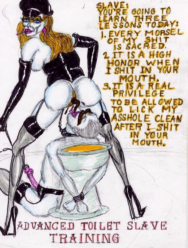 femdom toilet slave story