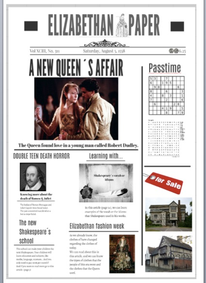 Project Elizabethan And Victorian Newspaper Efl And Culture