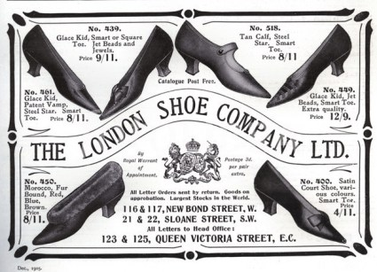 London Shoe Company Advert 1905