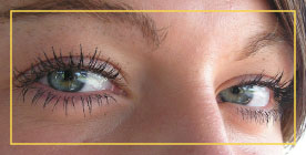 Closeup of woman's eyes-Our Services at a Glance graphic
