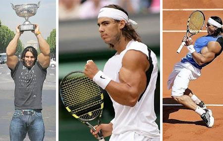 rafael nadal - big biceps