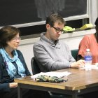 Government professors Elizabeth Sanders, David Bateman and Jamila Michener address the societal and economic implications of big money in politics at a panel discussion Tuesday.  (Michela Brew / Sun Sports Photography Editor)