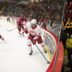 Harvard blasted past Cornell on Saturday, burying the Red in a three goal deficit early in the game.