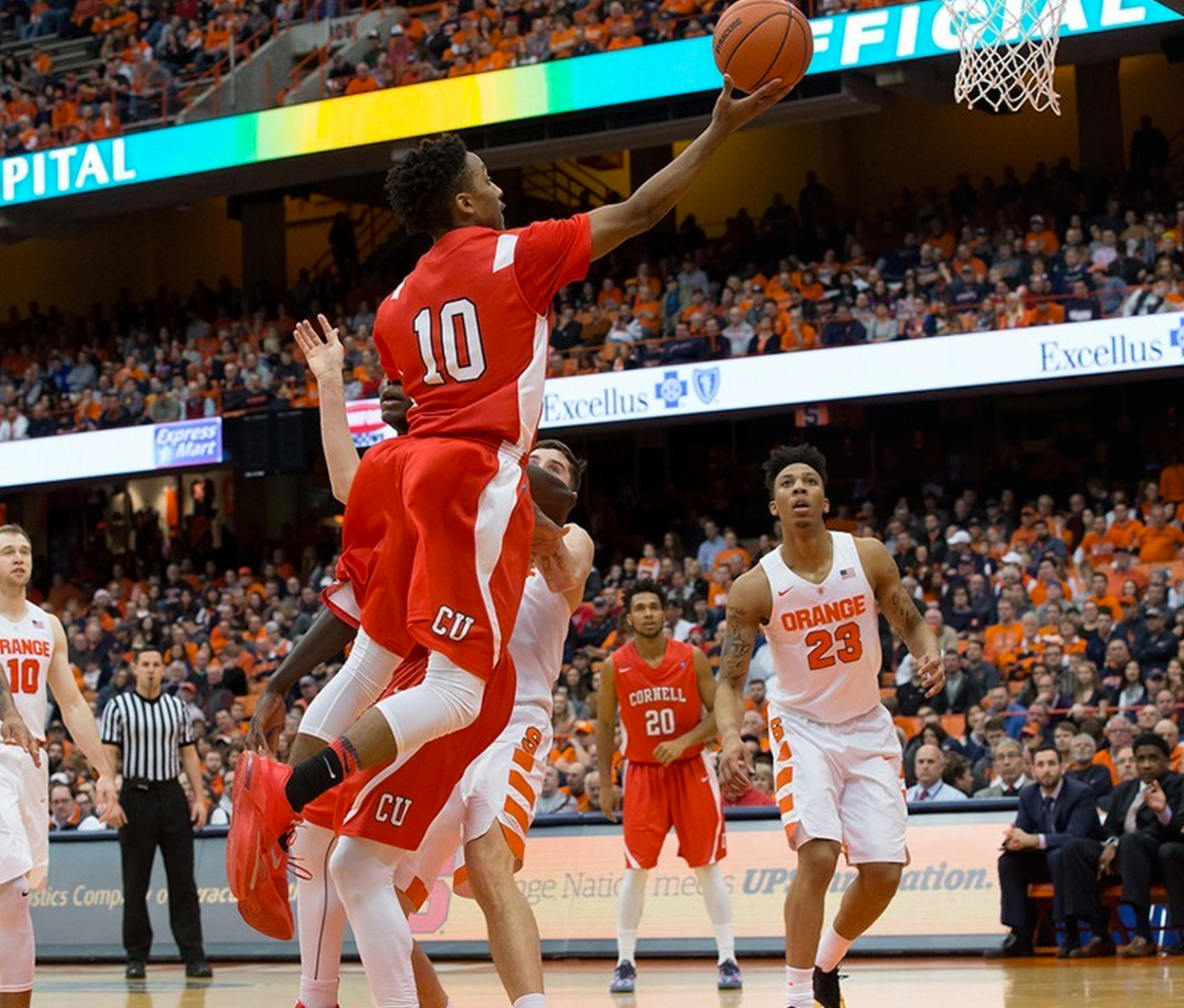 Freshman Matt Morgan, pictured above in a game against Syracuse, scored 29 points in Cornell's 74-70 loss to Columbia.