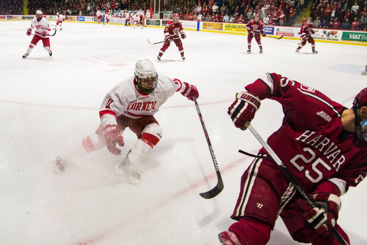 Junior forward Eric Freschi has had a season of highs and lows, much like the team as a whole.