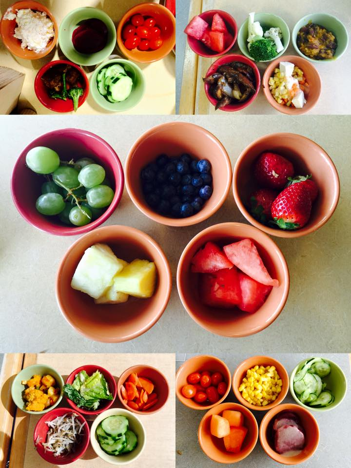 Cathy Zhang's colorful assortment of fruits and vegetables.