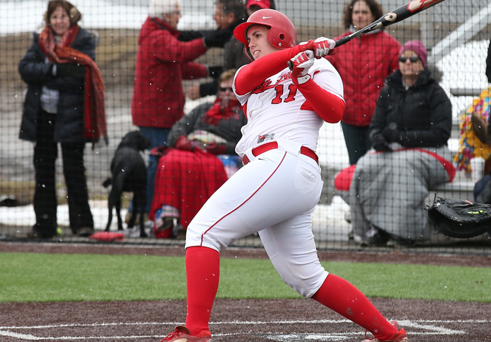 Even though things are not going as hoped, small positives, like senior catcher Leanne Ianucci's three-run homer, have kept the softball team optimistic as they look forward.