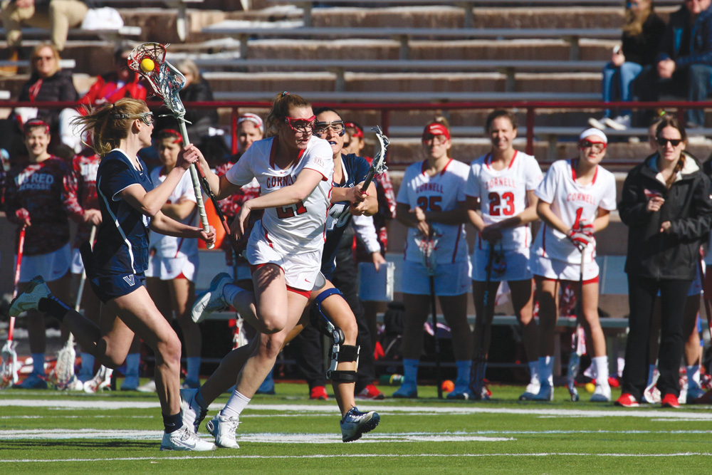 Junior midfielder Kristy Gilbert opened up scoring against Syracuse with the Red's first goal on Tuesday night.