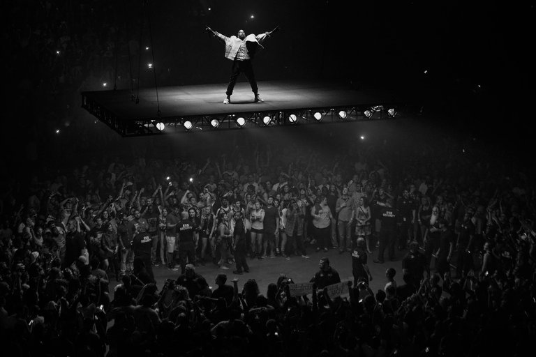 Kanye West performing in Indianapolis on August 25.