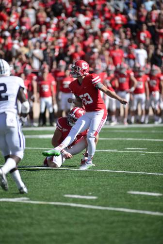 Sophomore kicker Zach Mays is 3/3 on field goals so far this year, and forcing nine touchbacks on kickoffs.
