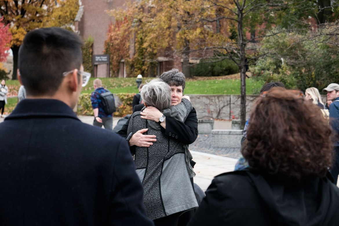 Members of the Cornell community support each other after the election.