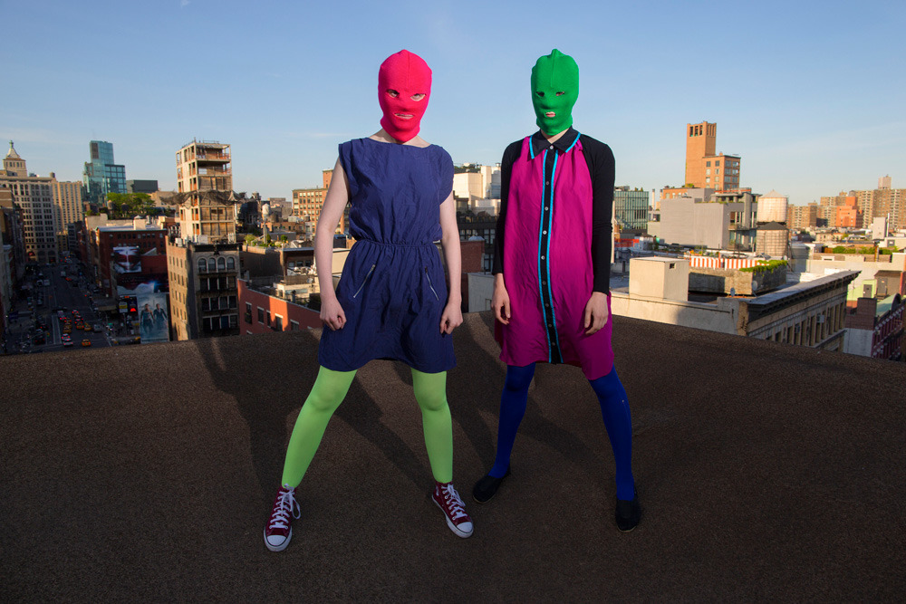 Two members of the group Pussy Riot.