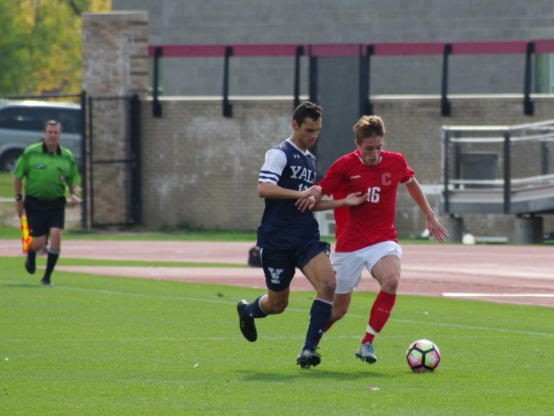 In his first season playing collegiate soccer for Cornell, freshman forward is tied for the team lead in goals and has accounted for about a quarter of the team's total shots.