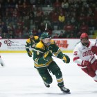 Junior forward Trevor Yates' three-point performance against Clarkson gave the Red one point on Friday in a comeback tie.