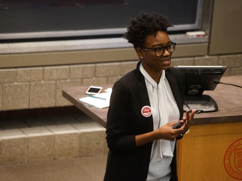 Tiffany Dena Loftin, Racial Justice Program Coordinator of AFL-CIO, delivered the keynote address of the ILR Union Days.