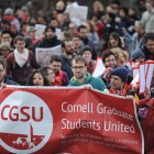 Cornell Graduate Students United await the vote that takes place early next week.