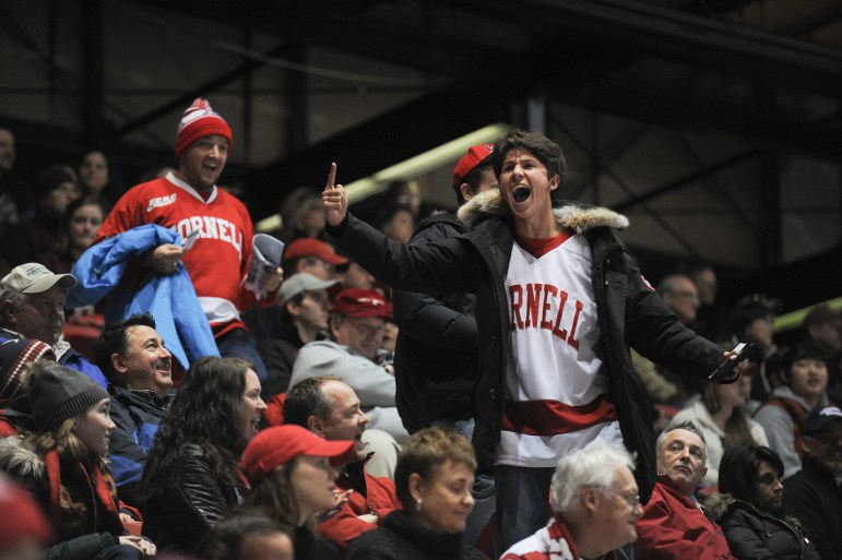 """Lynah North!"" chants broke out, and Cornell hockey fans had their voice heard in Lake Placid."