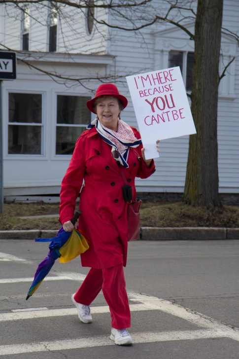 Ithaca Woman's Day March, March 8th. (Jeeah Eom / Sun Staff Photographer)