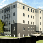 A rendering obtained from STREAM Collaborative for one of the new apartment buildings.