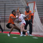 Tomasina Leska scored two consecutive goals late go give her team a final push, but the Tigers evaded the Cornell comeback.