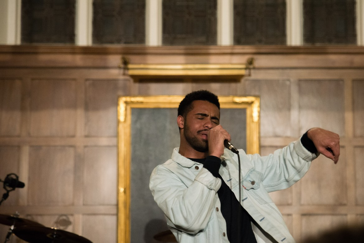 Paul Russell, known as Paulitics, performs in Risley Hall (Cameron Pollack / Sun Photography Editor)