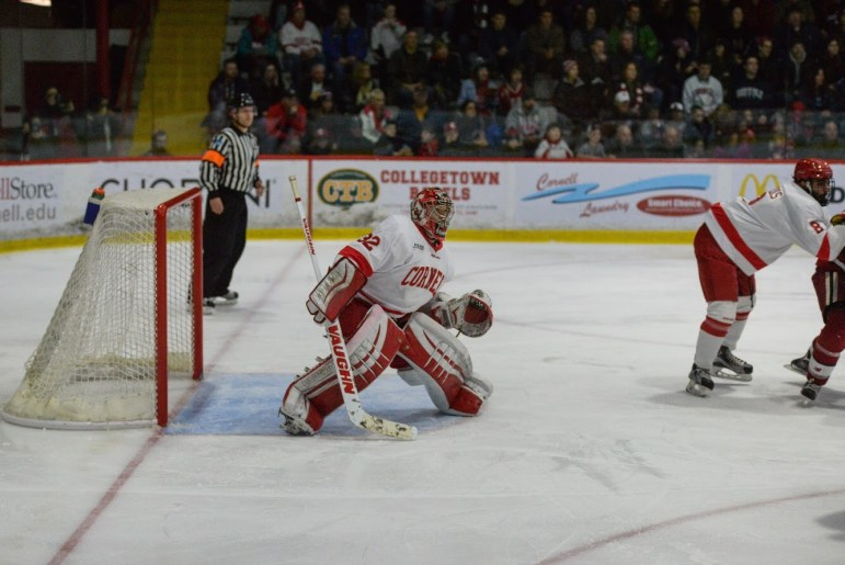 Following the graduation of Mitch Gillam '17, Cornell hockey welcomes two new goalies to the roster.