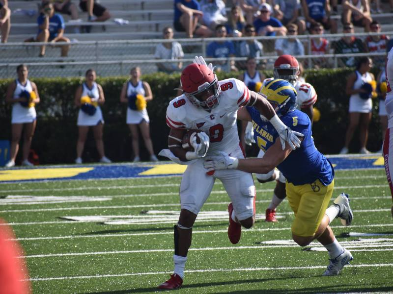 Chris Walker and the running backs managed just 46 yards of rushing on the day.