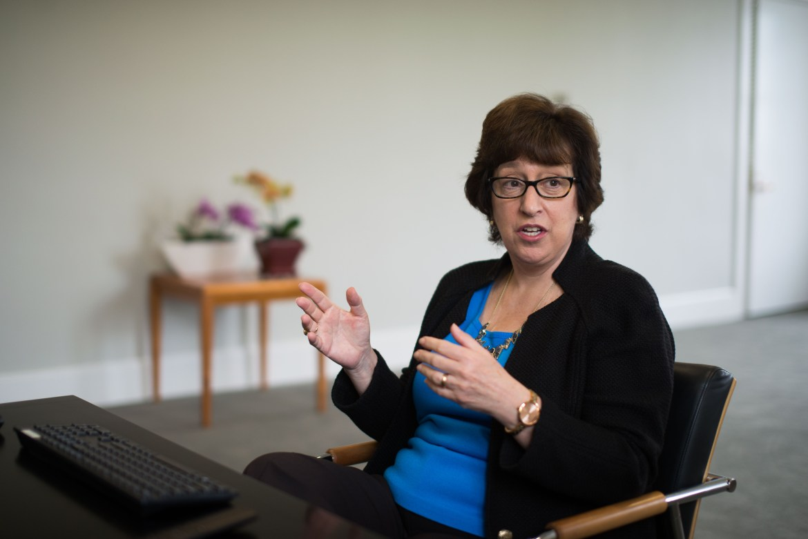 Cornell President Martha Pollack, pictured here in May, reinstated an international student work-study program in a surprise announcement that appeared to catch other University officials off-guard.