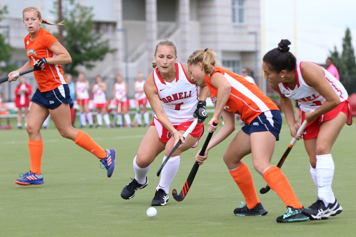Cornell finally gave up a goal, but got the win nonetheless.