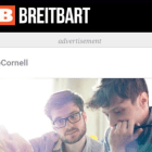 A screenshot of an advertisement by Cornell on Breitbart. Cornell has since forbidden its eCornell ads from appearing on any political websites.