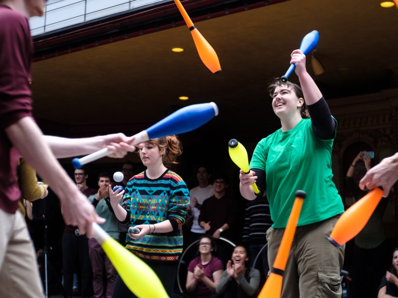 Students and Ithacans enjoy performances at the annual Apple Harvest Festival in downtown Ithaca on Sept.30, 2017. (Michael Suguitan/Sun Staff Photographer)