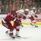 Morgan Barron is the first Cornell freshman with points in his first five games.