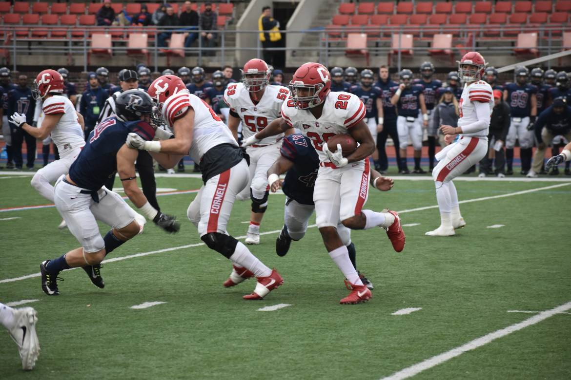 Harold Coles —122 rushing yards, 51 receiving — played a major role in getting the offense back in shape, but it wasn't enough against Penn and its superstar receiver Justin Watson.