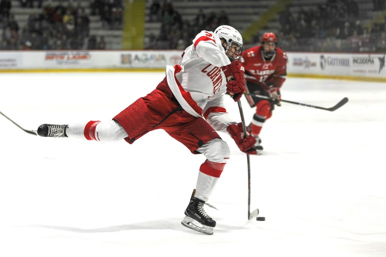 Sophomore forward Noah Bauld recorded a hat trick, and the Cornell men's hockey team followed up its lofty ascension in the national rankings with a dominating 6-1 victory over St. Lawrence on Friday night at Lynah Rink