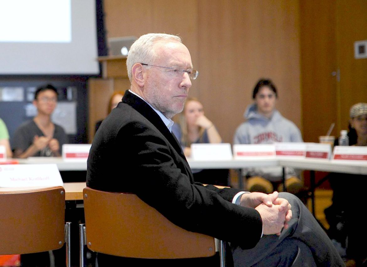Provost Michael Kotlikoff, pictured above at a previous Student Assembly meeting, indicated Cornell will likely not pay for the deficit that Cornell Cinema would incur if S.A. votes to divest from the Cinema in 2018.