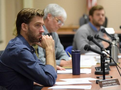 Common Council Liaison Joseph Murtaugh discusses landmark designation at the ILPC meeting.