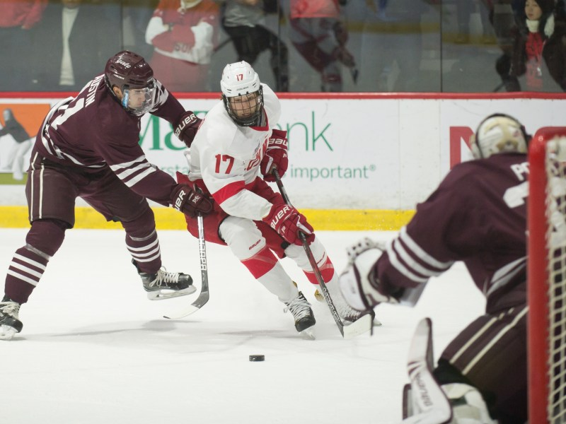 Angello paced the Red's offense on Friday, bringing his season goal total up to eight.