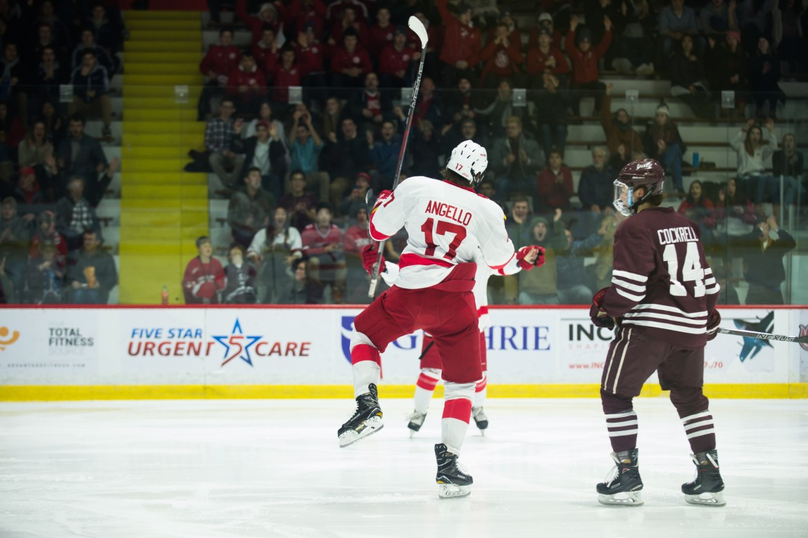 Anthony Angello's recent hot streak has earned him the honor of ECAC player of the week.