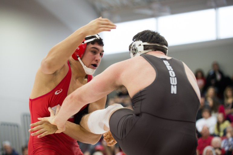 The Cornell wrestling team extended its win streak over Ivy League teams to 80 contests spanning 16 years with a sweep on Saturday matches, topping Brown 27-9 and Harvard 35-3 at Friedman Wrestling Center. The Big Red improved to 7-2 on the year and opened league play 2-0.