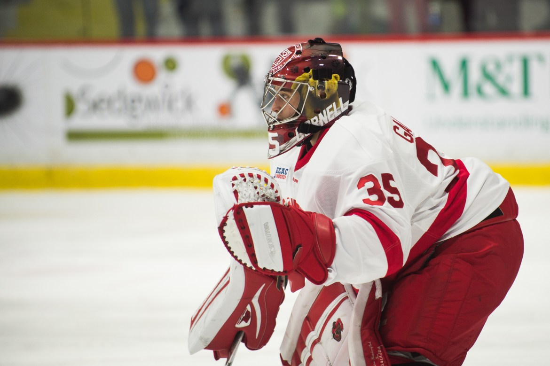 Freshman goaltender Matt Galajda has continued to turn heads, this week garnering national attention.