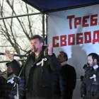 Boris Nemtsov speaks at a rally in Moscow in 2011. Courtesy of Voice of America.