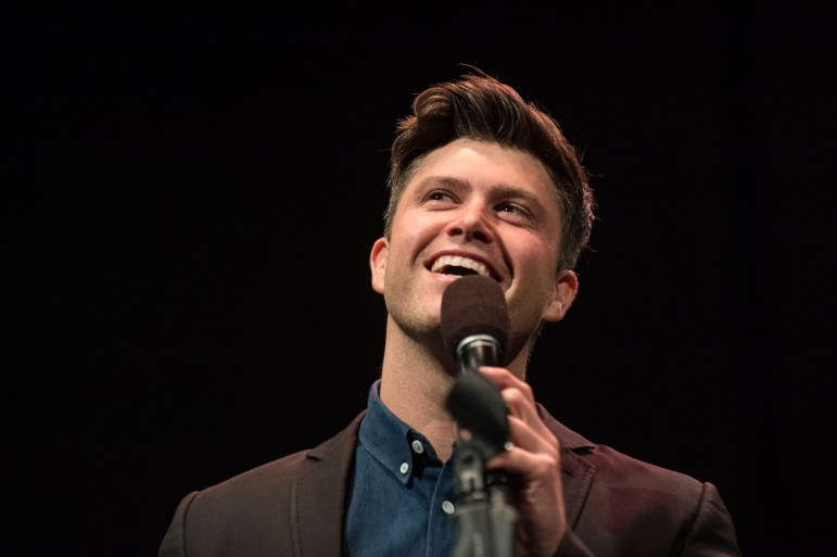 SNL comedians Colin Jost and Melissa Villaseñor performed at Bailey Hall on Friday. (Cameron Pollack/Sun Photography Editor)