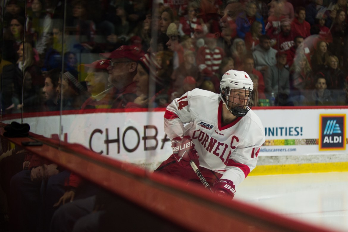 Junior forward and co-captain Mitch Vanderlaan will miss the remainder of the regular season after sustaining an injury against RPI.