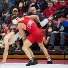 Four wrestlers earned All-American status as the Red went on to place seventh in NCAA Championships.